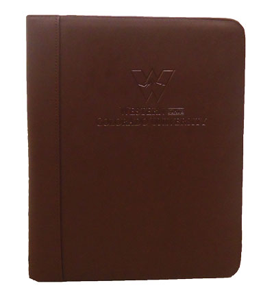 Deluxe Student Padholder (Leather)- Brown