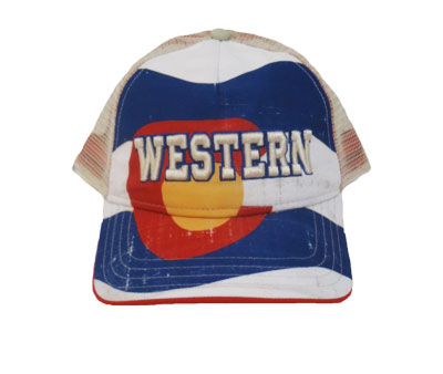 Full Colorado Flag Cap Western