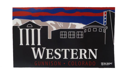 Western Skyline Sticker