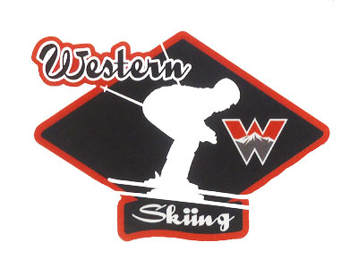 Skiing Decal