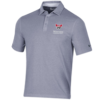 Western Charged Ua Cotton Polo - Steel
