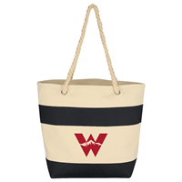 Western Rope Handle Stripe Tote