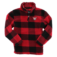 Western Sherpa 1/4 Zip - Red Plaid