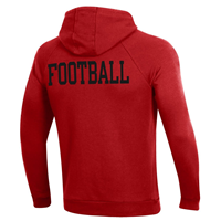 WESTERN FOOTBALL ALL DAY ALL RED UNDER AROUR - HOOD