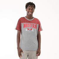 Western Campus Crew Neck Sst - Red Heather