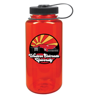 32 Oz. Widemouth Nalgene Fullcolor Uscape Farout - Red